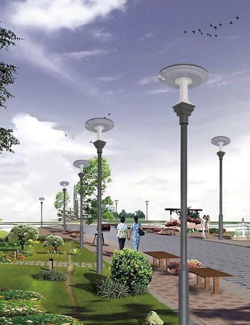 太阳能光感庭院灯